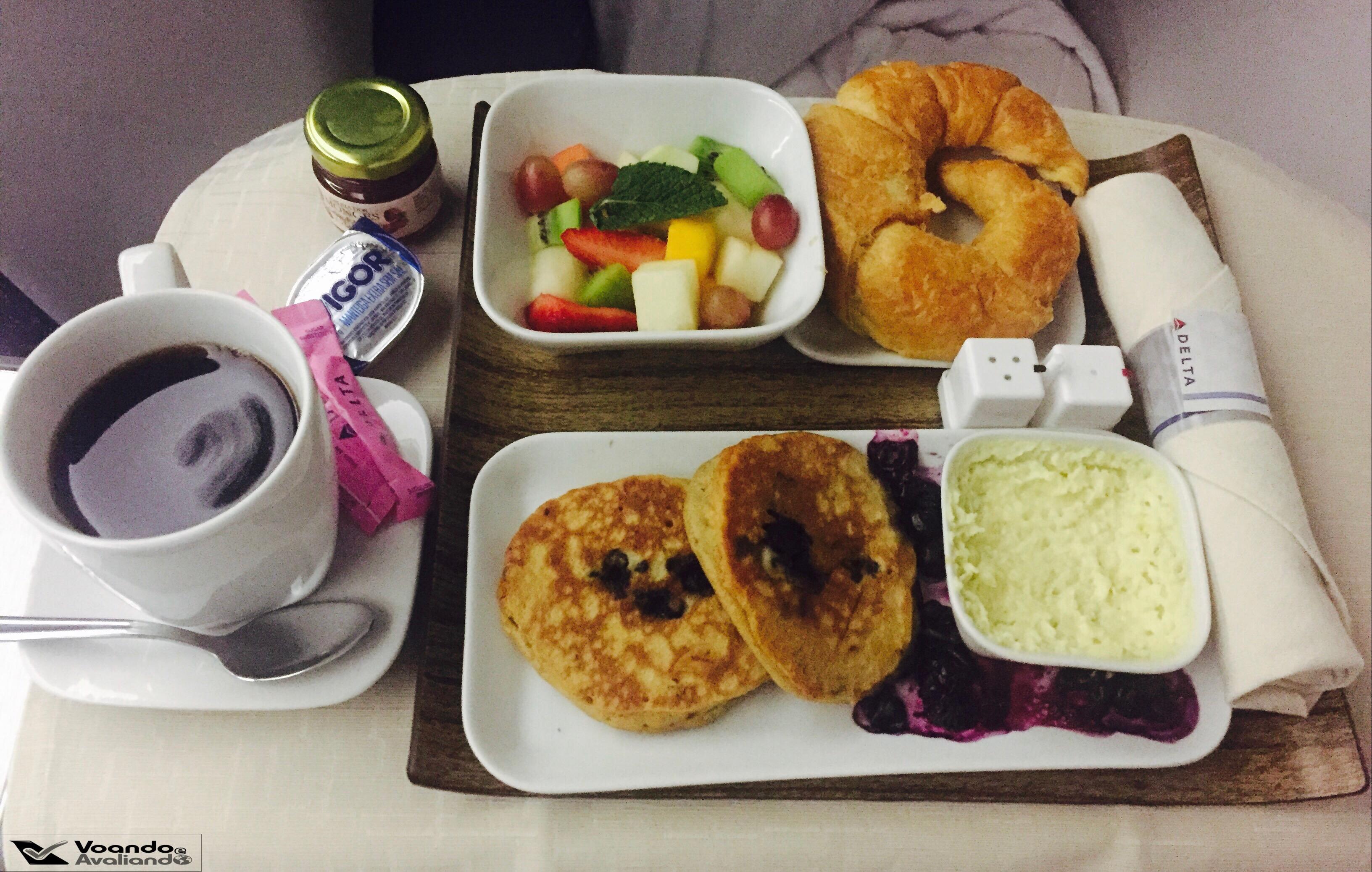 Café da manhã - Delta - GRU/JFK
